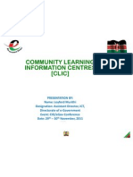 CIO 100 2011 - Community Learning Information Centres - Loyford Murithi - eGovernmnet