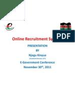 CIO100 2011 - Online Recruitment System - Andrew Njogu - 2011