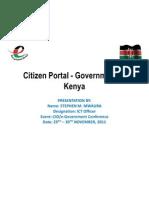 CIO 100 2011 - Ehuduma (Citizens) Portal - Stephen Mwaura - eGovernment