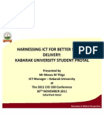 ICT for Better Service Delivery at Kabarak University
