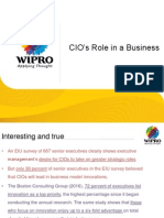 Wipro - Banking and Insurance Cocktail February 29th 2012 - CIO's Role in a Business