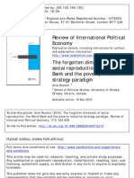 The Forgotten Dimension of Social Reproduction - The World Bank and the Poverty Reduction Strategy Paradigm