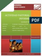 Avtividad n 06 Informe Pastoral