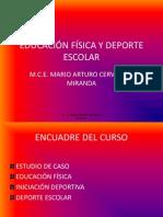 EDUCACIÓN FÍSICA Y DEPORTE ESCOLAR