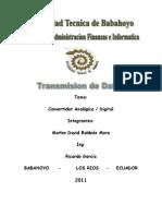 Transmision de Datos - Conversor Digital - Analogico