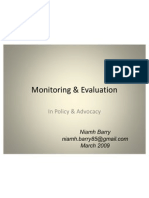 Monitoring and Evaluation in Advocacy