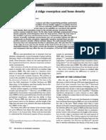 A Review of Residual Ridge Resorption and Bone Density