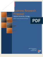 Business Research Proposal - Talha Hussain Manzoor (6672)