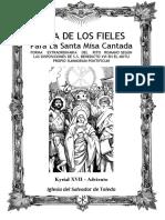 GUÍA DE LOS FIELES PARA LA SANTA MISA CANTADA EN ADVIENTO.  Kyrial XVII
