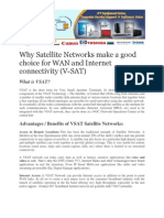 Why Satellite Networks Make a Good Choice for WAN and Internet Connectivity