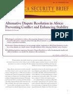 Alternative Dispute Resolution in Africa