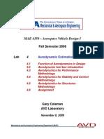 MAE 4350 - Lab 4 Aerodynamics