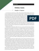 Whither Radio