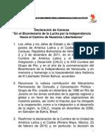 DECLARACIÓN DE CARACAS - CELAC