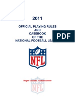 2011 NFL Rule Book