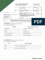 James E Kinkeade Financial Disclosure Report for 2010