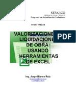 Valorizaciones y Liquidaciones de Obra Con Herramientas de Excel Parte 1[1]