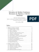 Algebra y Calculo Tensorial