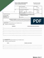 Eric F Melgren Financial Disclosure Report for 2010