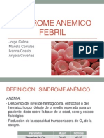 Sindrome Anemico febril