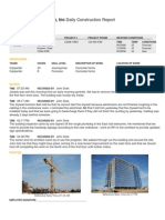 Daily Construction Report Sample