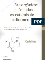 Funções orgânicas em fórmulas estruturais de medicamentos