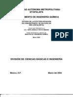 ESTUDIO DE LA ELECTROLIXIVIACIÓN de concentrados de sulfuro de zn(esfalerita)