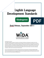 wida eld standards draft kindergarten1