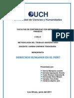 Monografia de Los Derechos Humanos