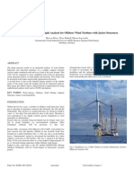 Integrated Load and Strength Analysis for Offshore Wind Turbines With Jacket Structures