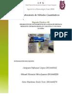 Práctica Cromatografía 3BM1 Equipo; Erick, Amparo, Misael