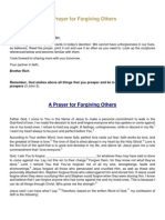 A Prayer for Forgiving Others