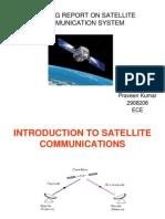 Training Report on Satellite Communication System