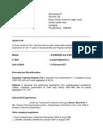Resume Srinivasan