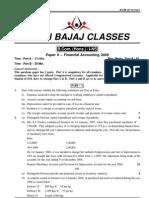 DU B.com(H) First Year (Financial Acc.) - Q Paper 2009