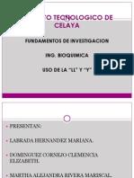 REGLAS PARA Y Y LL