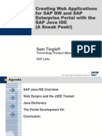 Creating Web Applications for SAP BW and SAP Enterprise Portal With the SAP Java IDE[1](1)