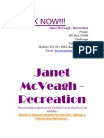 Janet McVeagh - Recreation Dec 2011 Holiday Programmes
