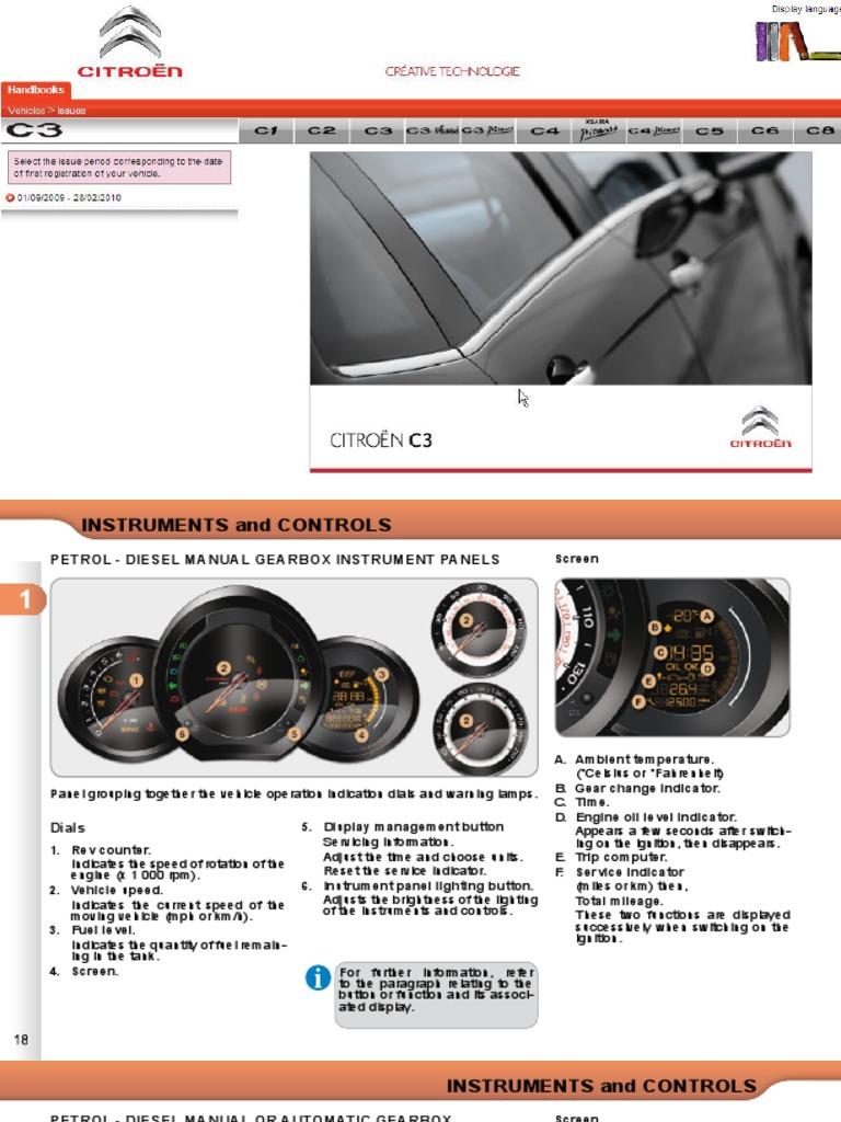 citroen c3 owners handbook air conditioning fuel economy in rh scribd com Citroen C3 1.4 HDI Citroen C3 Trunk Inteior