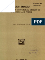 Criteria for Structural Design of Barrages and Weirs