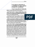Reducción de capital con devolución de aportaciones y ampliación con cargo a reservas (STS 30 mayo 2011) ¿dividendos