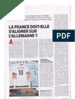 La France doit-elle s'aligner sur l'Allemagne - article Alernatives Économiques