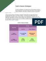 Porter Generic Strategies