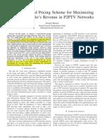 Pricing Maximizing Revenue P2PTV