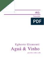 Egberto Gismonti Agua e Vinho Violao Cello e Oboe