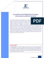 Eurydice.La enseñanza de las matemáticas en Europa.Resumen e Informe