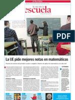 Matemáticas y prensa. La Voz de la Escuela 30.11.2011
