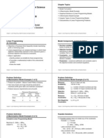 MSS - Chp 2 - Linear Programming Modeling Model Formulation and Graphical Solution