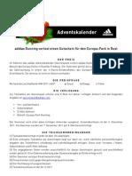 adidasrunning - Adventskalender Europa-Park