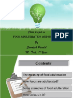 Food Adulteration and Hygiene
